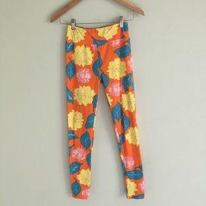 LuLaRoe Bright Floral Colorful Leggings